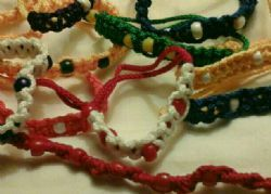 20 pack of paracord bracelets without beads assorted colors